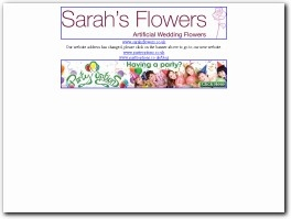 http://www.sarahsflowershop.co.uk website