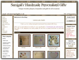 http://www.samigailsgifts.co.uk website