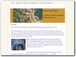 http://www.patchworkpilgrim.com website